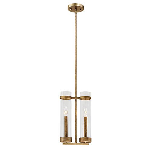 Milan Vintage Gold Two-Light Mini Pendant