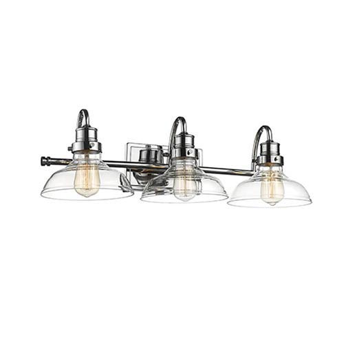 Chrome Three-Light Vanity