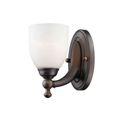 Rubbed Bronze One-Light Wall Sconce