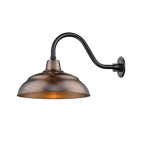 R Series Natural Copper 17-Inch One-Light Outdoor Warehouse Shade Only