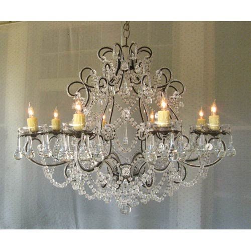 Chandi Lighting Lily Antique Silver Eight-Light Chandelier