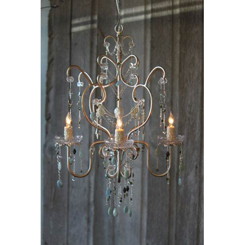 Abby Champagne Four-Light Chandelier