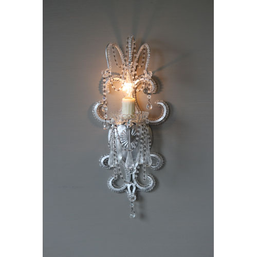 Marilyn Silver Leaf One-Light Wall Sconce