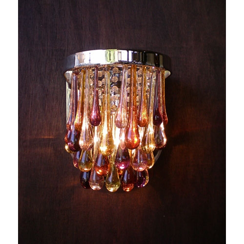 Zoe Nickel Plated One-Light Wall Sconce