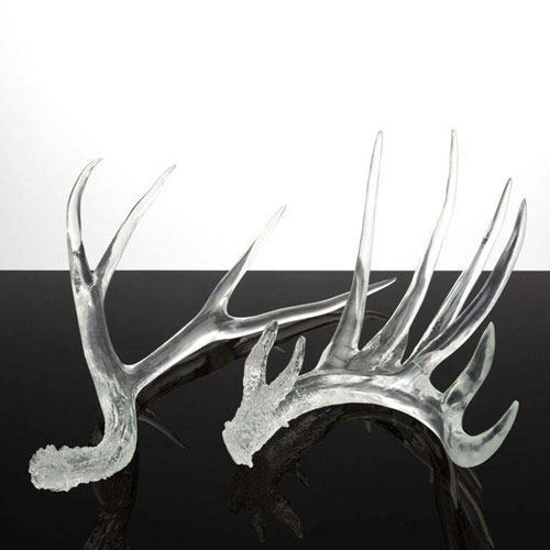 Clear Resin Antlers (Set of 2)