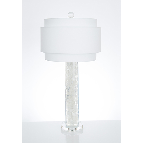 Montrose Clear Resin and White Quartz One-Light Table Lamp