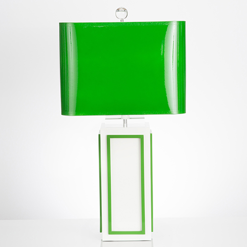 Couture Lagos Kelly Green One-Light Table Lamp