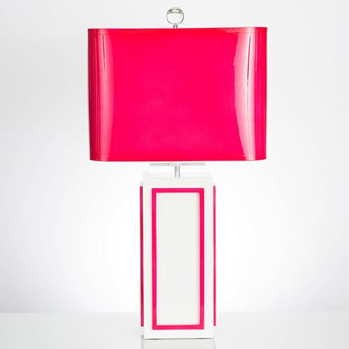 Lagos Fuchsia One-Light Table Lamp