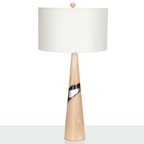 Couture Natural Rubberwood One-Light Table Lamp