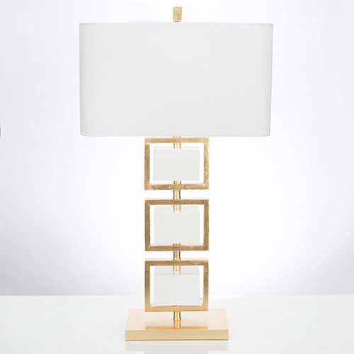 Coventry White and Gold Leaf One-Light Table Lamp