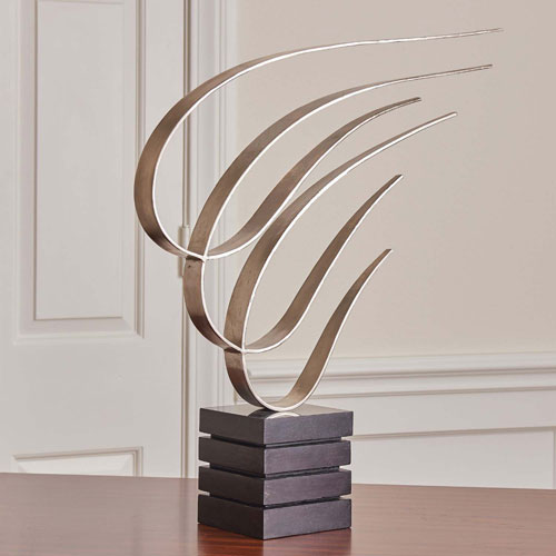 Swoosh Nickel Sculpture