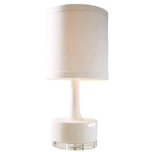 Couture Graphic Appeal High Glossy Cream One Light Table Lamp