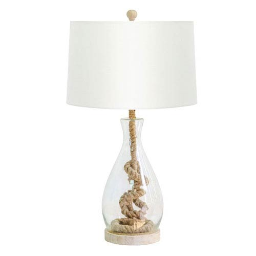 Coastal Retreat Recycled Glass Table Lamp