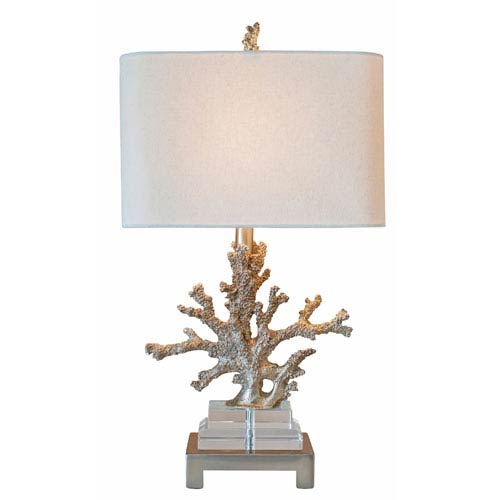 Coastal Retreat Gilt Silver One Light Table Lamp