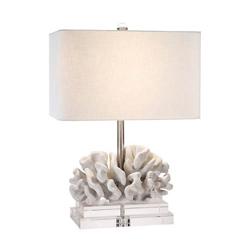 Couture Coastal Retreat C White 22 Inch High Elkhorn Table Lamp