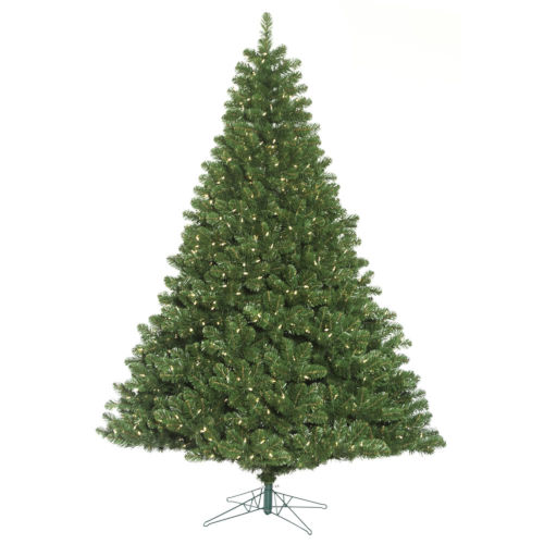 Oregon Fir Green 1400 LED Light Artificial Pre-lit Tree with Metal Stand
