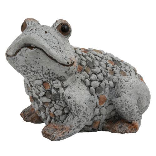 Gray Outdoor Garden Frog Figurine