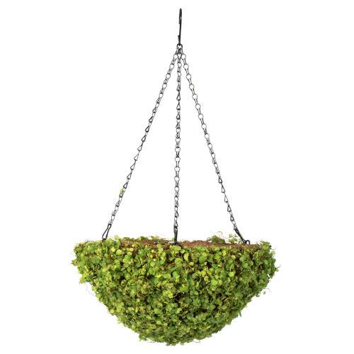Green Mini Leaves Hanging Basket
