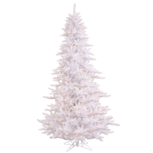 White 5 Ft. by 34 In. Artificial Pre-lit Tree