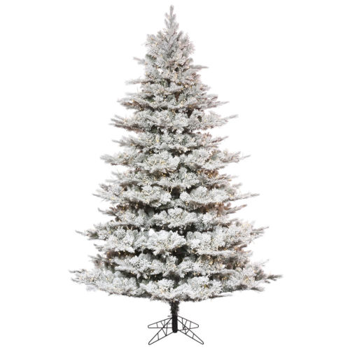 Flocked Kiana Green 1850 LED Light Artificial Pre-lit Tree