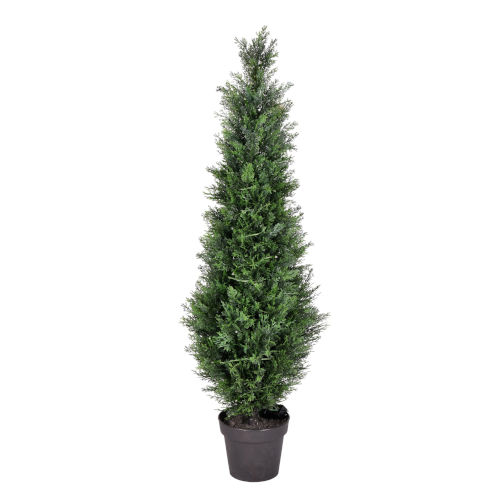 Green 4-Feet Potted Cedar Tree with UV Resistant