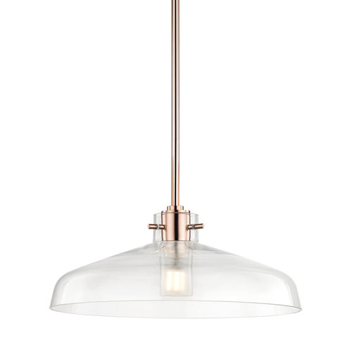 Mitzi by Hudson Valley Lighting Nemo Polished Copper 12-Inch LED Pendant