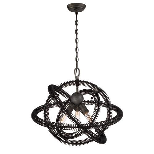 Eurofase Lighting Orbita Vintage Bronze Three-Light Chandelier
