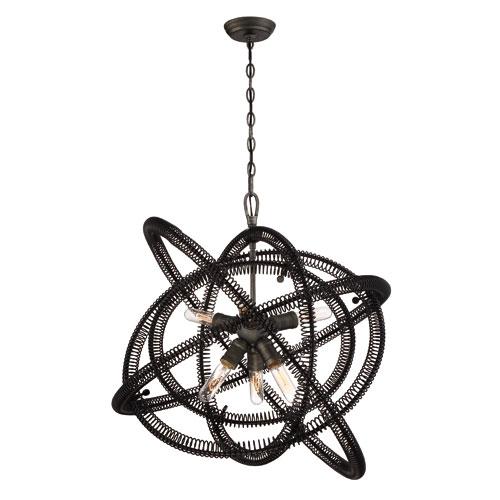 Orbita Vintage Bronze Six-Light Chandelier