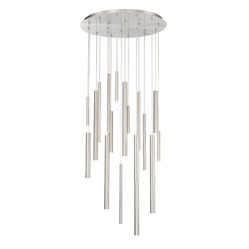 Eurofase Lighting Santana Satin Nickel 24-Inch LED Chandelier