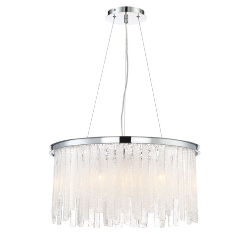 Candice Chrome 10-Light Chandelier