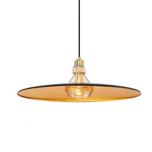 Eurofase Lighting Legend Gold 19-Inch One-Light Pendant