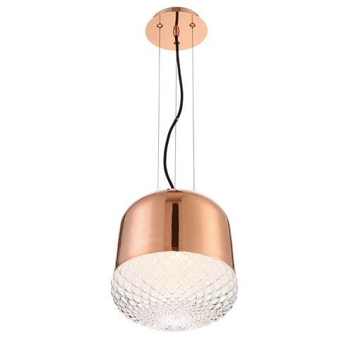 Corson Rose Gold One-Light Mini Pendant