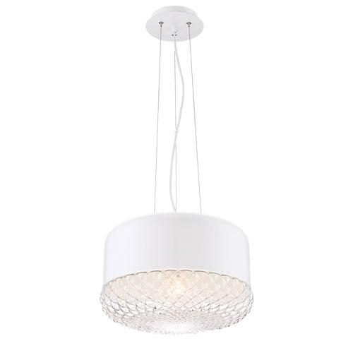 Corson White One-Light Pendant