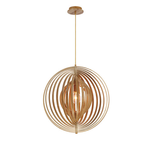 Eurofase Lighting Abruzzo Wood 23-Inch One-Light Pendant