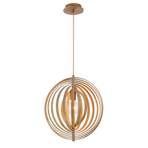 Abruzzo Wood 14-Inch One-Light Pendant