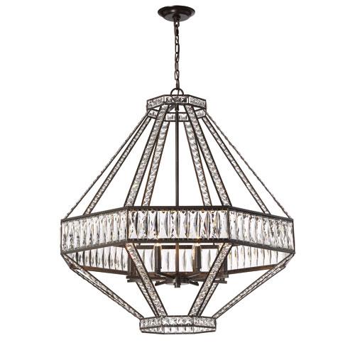 Bellezza Bronze Eight-Light Chandelier