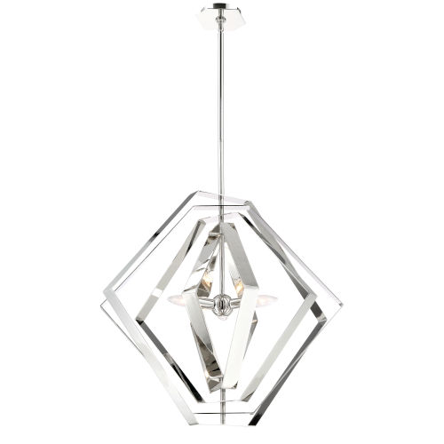 Downtown Chrome Three-Light Chandelier