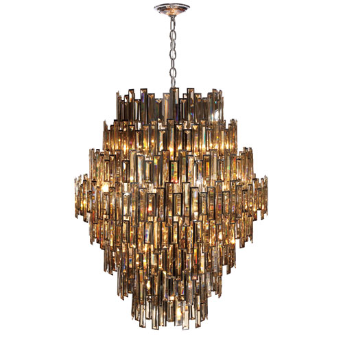 Eurofase Lighting Vienna Chrome 28-Light Chandelier with Chnapagne Crystal