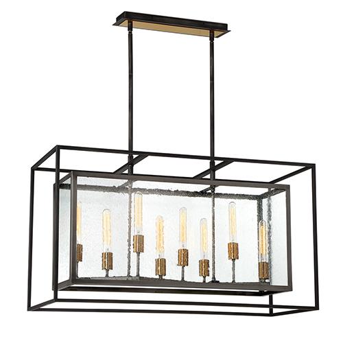 Affilato Black 16-Inch 8-Light Chandelier