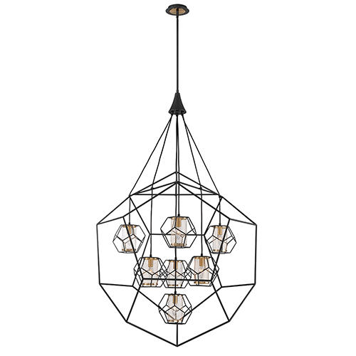 Bettino Black 38-Inch 7-Light Chandelier