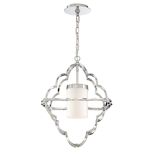 Douville Chrome 18-Inch 1-Light Pendant