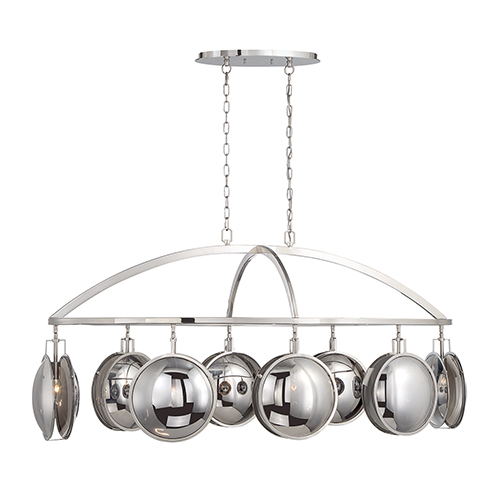 Havendale Polished Nickel 26.5-Inch 8-Light Chandelier
