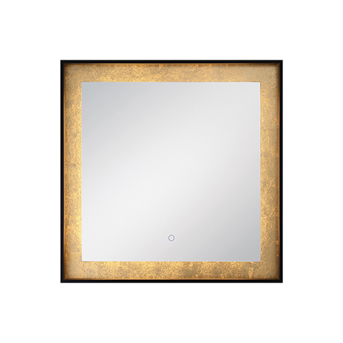 Edge-Lit Mirror Black 32-Inch LED Mirror