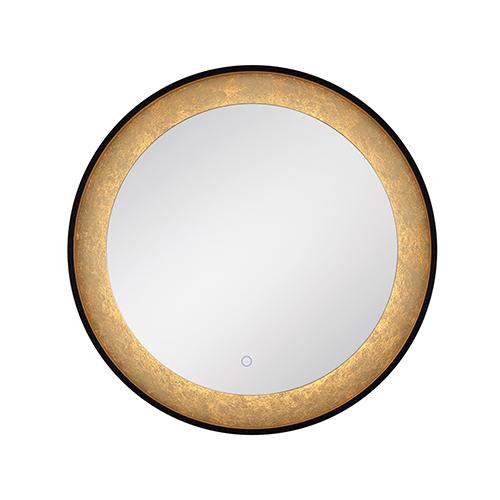 Edge-Lit Mirror Black 30-Inch LED Mirror