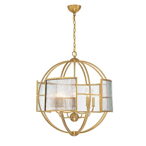 Eurofase Lighting Manilow Brass 25.5-Inch 8-Light Chandelier