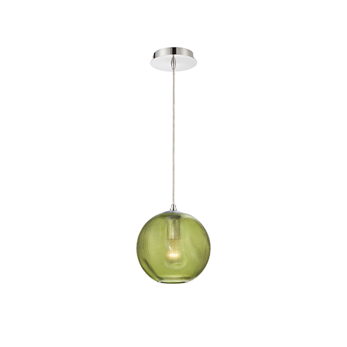 Eurofase Lighting Della Chrome 8-Inch 1-Light Mini Pendant