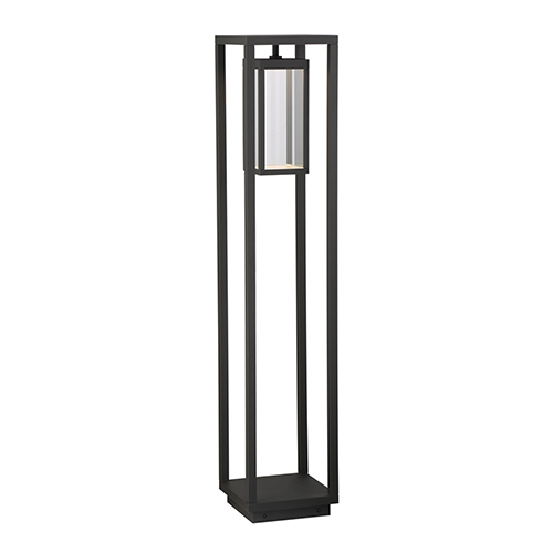 Outdoor Bollard Graphite Grey 8.75-Inch LED Bollard