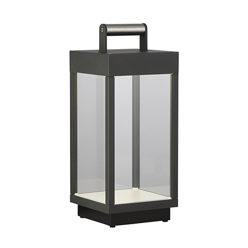 Outdoor Portable Graphite Grey 5.75-Inch LED Lamp