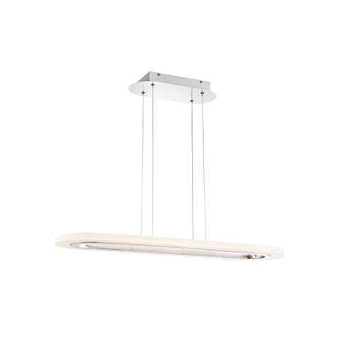 Eurofase Lighting Distesa Satin Nickel 8.75-Inch LED Linear Pendant