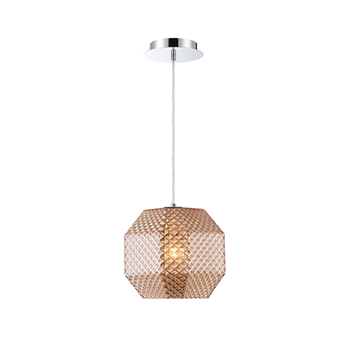 Catalda Amber 9-Inch 1-Light Pendant